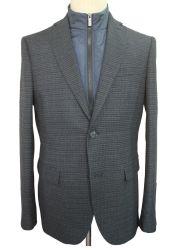 سترة رياضية للرجال من نوع Fit Suit Cotet ذات طلاء تويد Blazer مع متجه داخلي قابل للفصل