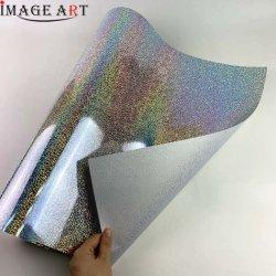 La transferencia de calor el vinilo holográfico de Corea para la ropa la impresión de Cdh-01 Silver