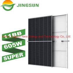 Jingsun 2021 nuovo prodotto a semicella 210 mm 590 W 595 W 600 W. Pannello solare da 605 W.