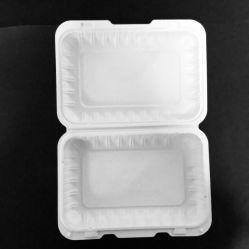 صندوق غداء بلاستيكي قابل للتحلل البيولوجي قابل للاستخدام مرة واحدة، طقم أدوات مائدة أدوات المائدة Clamshell