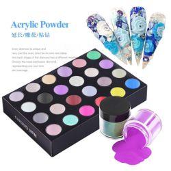 Private Label de Acrílico Color Nail Art polvo de flores de tallado de esmalte de uñas de gel UV de polvo de decoraciones de polaco
