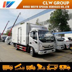 China Foton Venta caliente 4 toneladas de transporte comercial de la luz de la entrega Van camión de carga