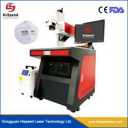 UV-lasermarking machine voor het printen van logo's met gezichtsmasker, medisch Toepassing
