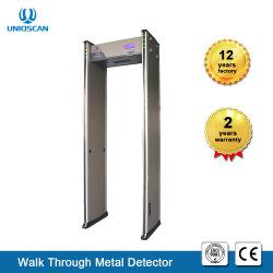 Los sistemas de seguridad 255 caminar a través de la sensibilidad del detector de metal con pantalla LCD