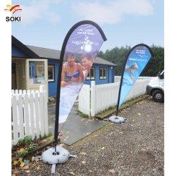 La publicité de bannière Sport battant pavillon des bannières en forme de goutte