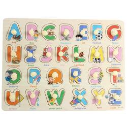 일찌기 영국 편지 아이들 횡령 널 아기 장난감을 배워 나무로 되는 수수께끼 첫번째 교육 아이