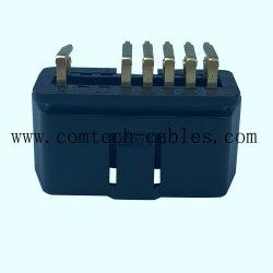 J1962 Macho banhados a ouro 90 ° 16pino Obdii 90 grau Plug OBD2 é usado para bricolagem Ficha preta da placa de circuito impresso