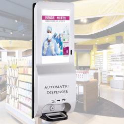 Dispensador de purificador de mão automático de 21,5 polegadas para Montagem Mural Digital Signage, Restaurante Use