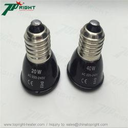 Comutação Tamanho Mini 20W 40W a lâmpada do aquecedor de cerâmica de infravermelhos