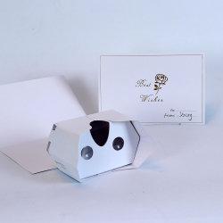 Vetri pieganti della cartolina d'auguri del cartone 3D Vr di stampa su ordinazione