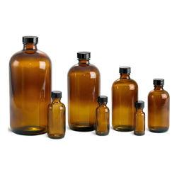 Amber/azul/Clear Boston Rodada garrafa de vidro