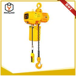 Palan à chaîne électrique de 3 tonnes avec crochet de suspension de type