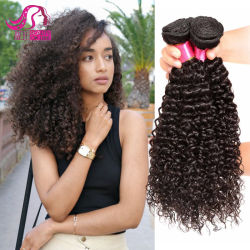 En bruto de Brasil Popular Virgen Kinky Curly Indian Remy Paquetes de pelo