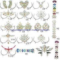 Ungiftiges Gesicht Jewels Karosserien-Juwel-Brust-Juwel-Tätowierung-Aufkleber für Weihnachtsfest