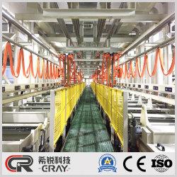 Linha de galvanização a sobrecarga automática chaparia do canhão de Hardware de metal do tipo de linha de produção de níquel/Equipamentos de sementeira em placas de cobre