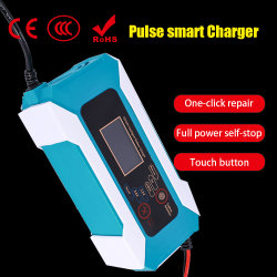 12V 24V Chargeur de batterie intelligente avec affichage LCD Chargeur de batterie plomb-acide