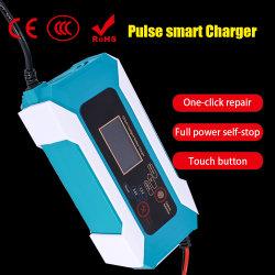 12V 24V 스마트 배터리 충전기(LCD 디스플레이 납산 포함 배터리 충전기