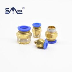 Modelo de equipo neumático recto macho conector rápido de la manguera del tubo de conexión