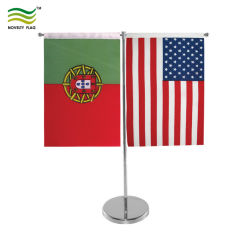 Управление оформлением страны флага на стол металлической флагштока регистрации флаг