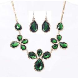 جديد تصميم [يوونغ جرل] نوع ذهب [ستينلسّ ستيل] اللون الأخضر زركون صب مجوهرات مجموعة
