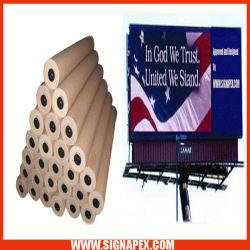 Flex Banner Lona Frontlit Bandera blanca para vallas de publicidad