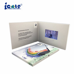 La parte superior la venta de tarjetas de Invitaciones de Boda Vídeo LCD Folleto/Video Tarjetas de Felicitación para promoción