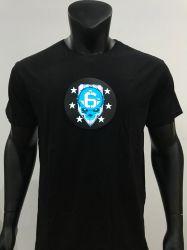 Индикатор 2077 Cyberpunk музыка футболка звука включена лампа электро люминесцентные эль-акустический контроль запальные одежды для группы пользовательских Хэллоуин