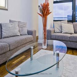 Table à manger en verre trempé clair haut Le verre trempé pour table de plein air