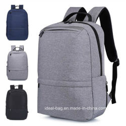 De façon personnalisée toile USB pour ordinateur portable 15 pouces Outdoor Sports Leisure Travel sac à dos de l'épaule de gros de l'ordinateur de l'école