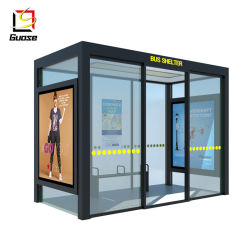Автобусная остановка рекламы приюты солнечной автобусной остановки шины рамы в области жилья