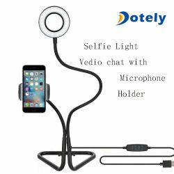 Selfie luz circular com o porta-celular suporte para transmissão ao vivo de conversações de vídeo