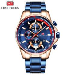 Мини-фокус наручные часы многофункциональный хронограф часы Китая, Полоса из нержавеющей стали