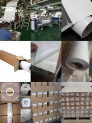 Solvente de venda quente Vinil Adesivo PVC autocolante Roll 80mic com camisa de 120g