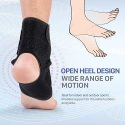 Luva de suporte de tornozelo desportos elástica ajustável de compressão do esteio do tornozelo de Basquetebol 5 Compradores