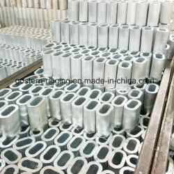 Puntale di alluminio per la corda del filo di acciaio