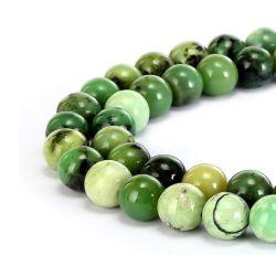 Australia Natural Jade redondo liso de piedras preciosas perlas sueltas pueden hacer joyas pulseras y collares y una variedad de joyas de moda 4mm 6mm 8mm 10mm 12mm 14mm