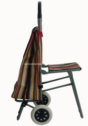 Bolsa de compras carro con silla Rolling Bolsa de compras con silla