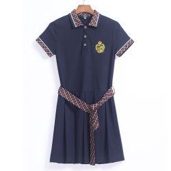 새 디자인 코튼 학교 교복 핀포어