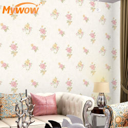 Decorazione della casa del documento di parete del PVC della carta da parati floreale