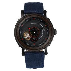 Мода раунда Wristwatch автоматической древесины в качестве подарка
