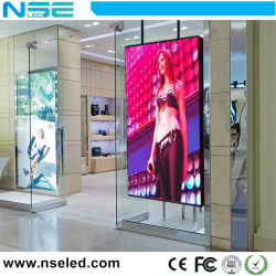 P5/P6/P8/P10 LED écran pour la fenêtre de verre avec une parfaite performance visuelle