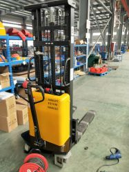 Nuevo 1000kg/1500kg Walkie apilador eléctrico con una amplia piernas