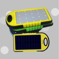 Индивидуальный логотип, два порта USB водонепроницаемый панели солнечных батарей для использования вне помещений портативное зарядное устройство солнечной энергии