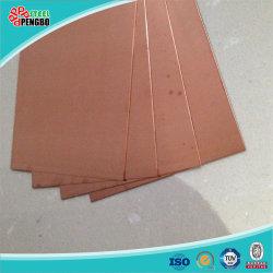 ASTM B152 C10100 da placa de cobre isento de oxigénio