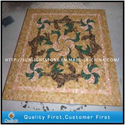 Mosaik-Fußboden-Fliese, rundes /Square-Muster-Marmor-Stein-Mosaik