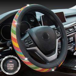 Rhinestone voiture COUVRE VOLANT 38cm Crystal couvre volant de direction de voiture couvrir Car Styling Shining Bling Accessoires de voiture