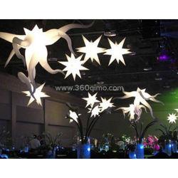 La entrega personalizada de luz LED inflables estrella poligonal, cono cuernos luminosos de las decoraciones de Navidad Yard /Street/bodas/Etapa Il001