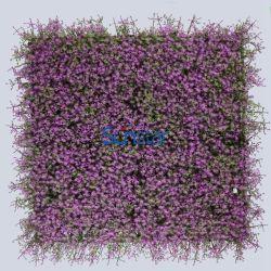 Estrela Artificial Flor Painel Hedge 50x50cm plástico parede verde plantas de interior para decoração (51184)