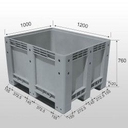 1200X1000X760mm 플라스틱 깔판 상자 가격, 메가 궤, 플라스틱 깔판 궤