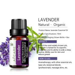 Nutrir la piel de etiqueta privada de Aceite Esencial de Lavanda planta orgánico puro de alta calidad Natural antienvejecimiento Anti Wrinkle